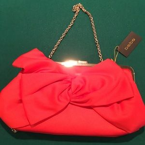 Orange Satin Evening Bag W/Large Bow❤️